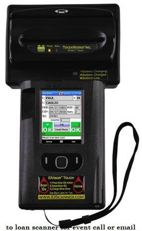to loan scanner for event call or email